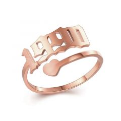 """""""Succeed Unremitting"""" Personalized Engraving Ring"""