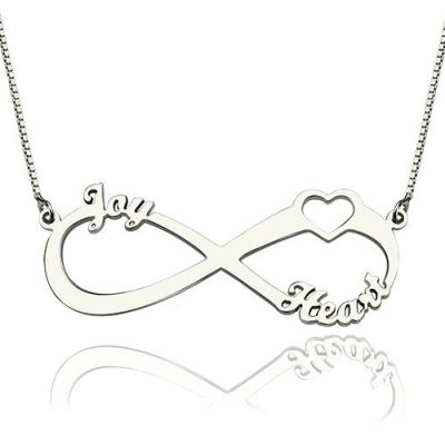 """You Are Not Alone"" Personalized Infinity Name Necklace"