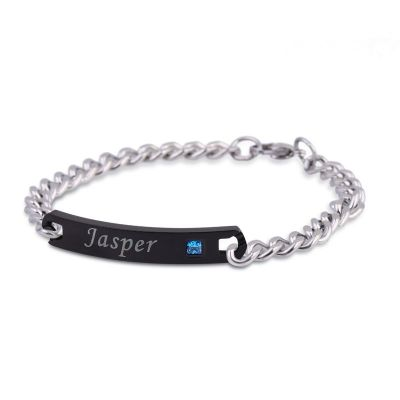 """""""You're The One"""" Personalized Bracelet for Men Stainless Steel"""
