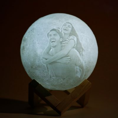 Touch 2 Colors-Photo Moon Lamp,Custom 3D Photo Light(10cm-20cm)