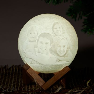 Tap 7 Colors-Photo Moon Lamp,Custom 3D Photo Light(10cm-20cm)