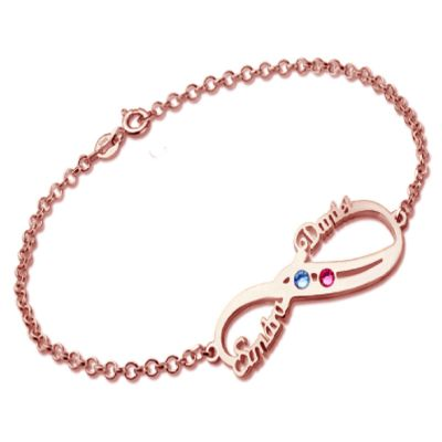 Infinity Bracelet With Birthstones