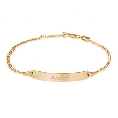Engravable Name Bar Bracelet