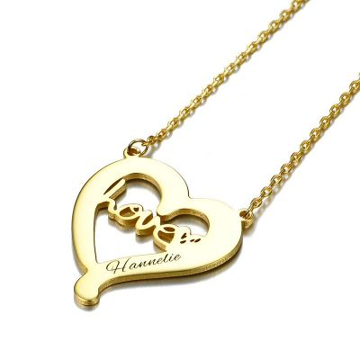 """Love is all around"" Personalized Engravable Necklace"