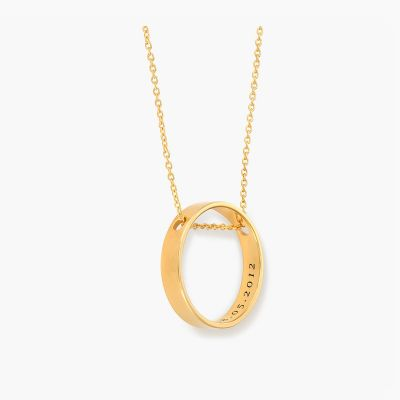 Classic Style Personalized Inner Circle Necklace