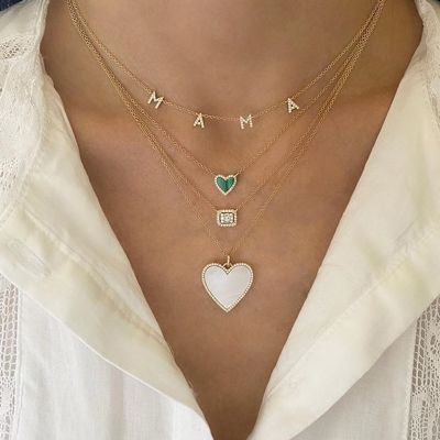 Stunning Diamond Baguette Necklace Surrounded