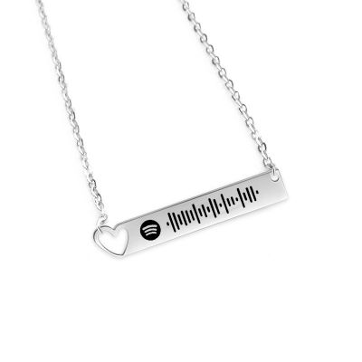 Scannable Spotify Code Custom Music Song Bar Necklace