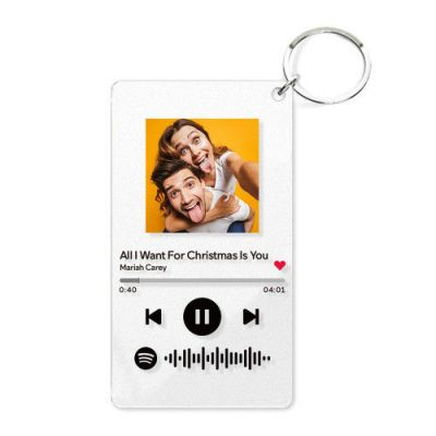 Scannable Spotify Code Custom Music Song Key Chain
