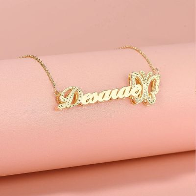 Butterfly Custom Name Necklace