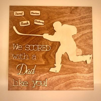 Wood Engraved Personalized Plaque