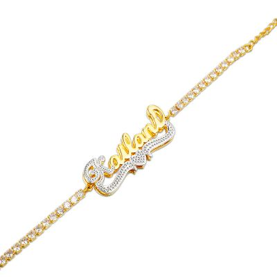 Tennis Chain Double Layer Personalized Name Bracelet