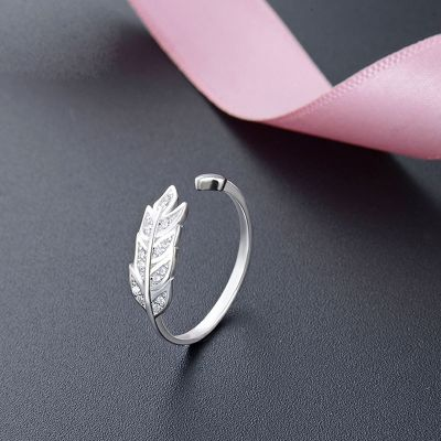 Sterling Silver Feather Ring-Adjustable Ring Size
