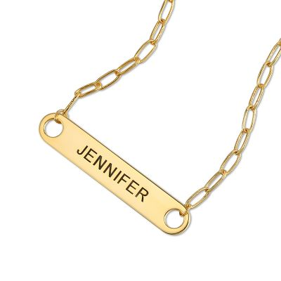 Custom Name Paperclip Chain Necklace