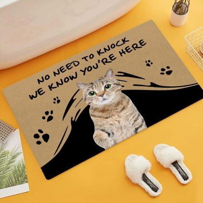 """""""No Need To Knock"""" Personalized Pet Photo Doormat"""